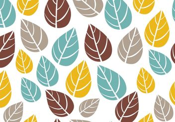 Ornate Seamless Leaf Pattern Vector - Free vector #143561