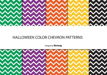 Halloween Chevron Pattern Set - vector gratuit #143601