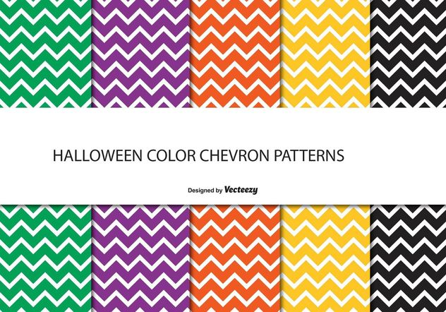 Halloween Chevron Pattern Set - Free vector #143601