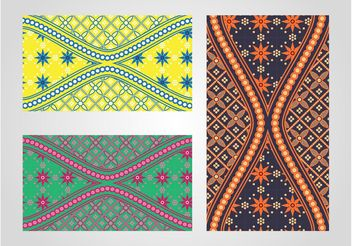 Batik Patterns - vector gratuit #143621