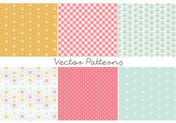 Colorful Retro Patterns - Free vector #143681