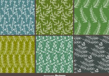 Natural Hand Drawn Patterns - Free vector #143701