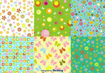 Floral Spring Pattern Vectors - Free vector #143711