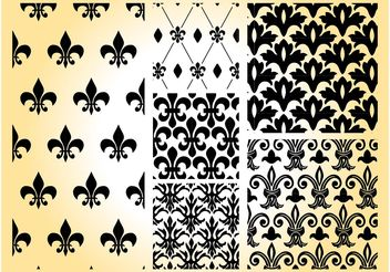 Royal Patterns - vector gratuit #143781