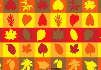 Autumnal Leaves Texture - Free vector #143801