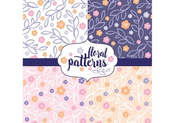 Floral Pattern Set - Free vector #143891