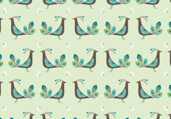 Free Peacock Vector Seamless Pattern - vector gratuit #143931