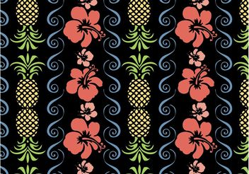 Tropical Pattern Vector - Free vector #144011