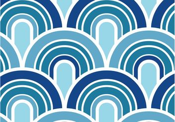 Blue Waves Pattern - Free vector #144061
