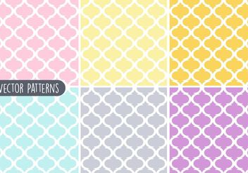 Pastel Geometric Vector Pattern Set - Kostenloses vector #144091