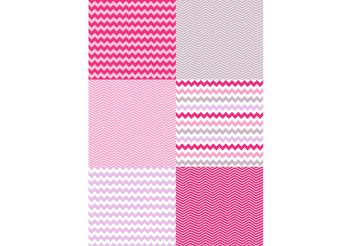 Valentine Chevron Pattern Set - Free vector #144121