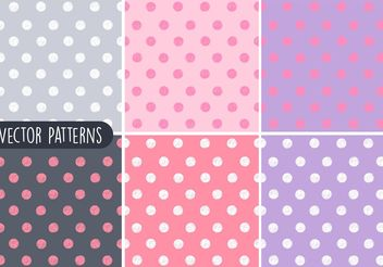 Sketchy Polka Dot Vector Patterns - vector #144141 gratis