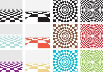 Vector Checker Board Patterns - vector gratuit #144151