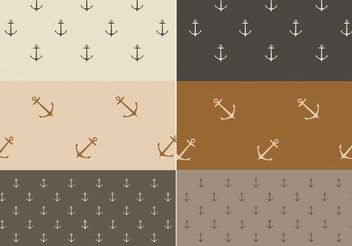 Free Vector Nautical Patterns - vector gratuit #144171