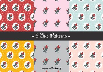 Free Shabby Chic Patterns - vector gratuit #144221