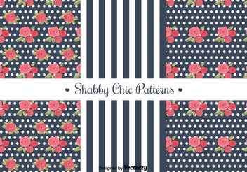 Free Shabby Chic Patterns - vector gratuit #144291
