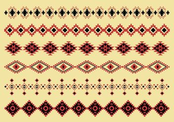 Native American Pattern Vectors - Free vector #144451