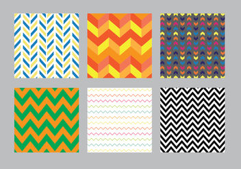 Chevron Pattern Vector Pack - Free vector #144481