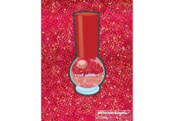 Red Glitter Vector Background - vector gratuit #144491