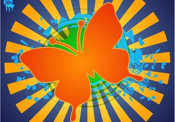 Butterfly Layout - vector gratuit #144641