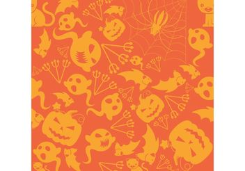 Halloween Pattern 01 - Free vector #144681
