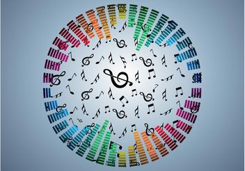 Rainbow Music Design - Kostenloses vector #144761