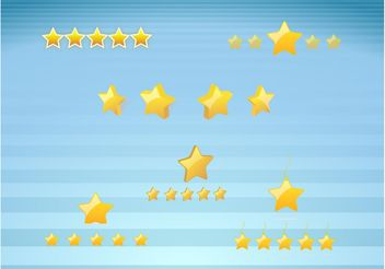 Gold Star Icons - Free vector #144771