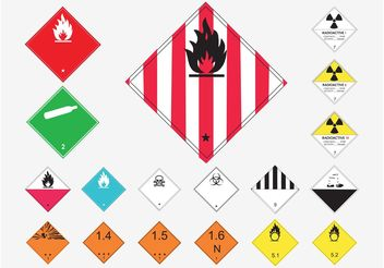 Danger Warnings - vector gratuit #144811