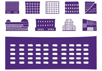 Buildings Silhouettes Set - Free vector #144861
