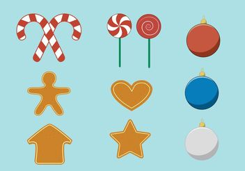 Vector Christmas Accessories - Free vector #144871