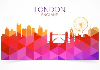 Free Abstract Colorful London Cityscape Vector - Free vector #144911