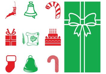 Christmas Objects Silhouettes - Free vector #144941