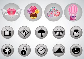 Buttons Pack - vector gratuit #144971