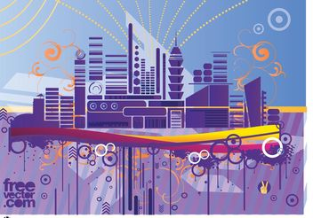 Abstract City Graphics - Free vector #145111