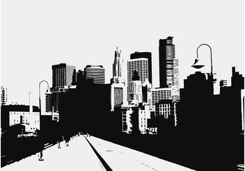 City Road Illustration - vector gratuit #145221