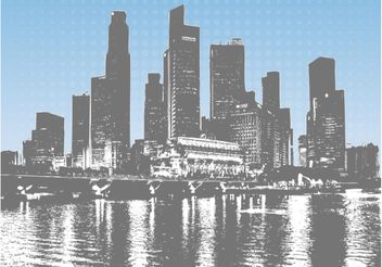 Cityscape Vector Graphics - vector gratuit #145261