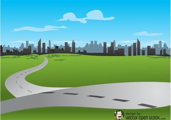 City Road Vector - Free vector #145341
