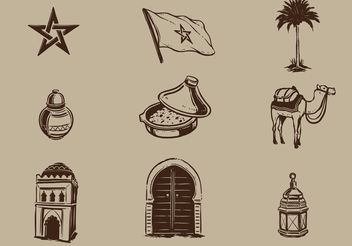 Free Morocco Vector Elements - Free vector #145411