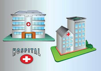 Hospital Building Icons - vector gratuit #145421