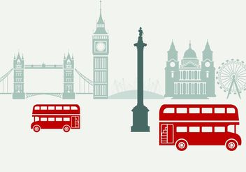 London City Scape Vector - vector gratuit #145441