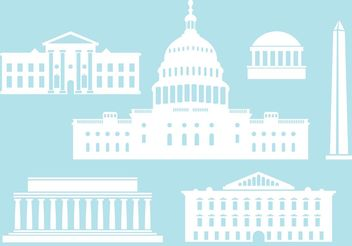Buildings from US Capital City. - бесплатный vector #145471