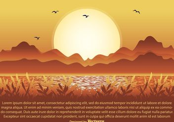 Nature Scene Illustration - vector gratuit #145481