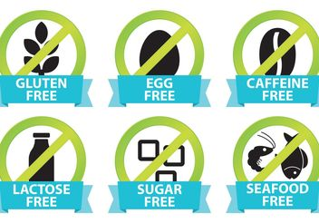 Food Allergy Icons - бесплатный vector #145581