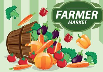 Farmers Market Vector Produce - бесплатный vector #145591