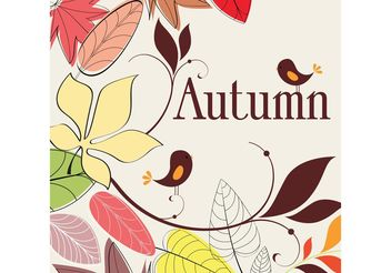 Autumn Nature Drawing - Free vector #145741