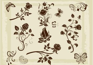 Nature Element Pack - vector gratuit #145751