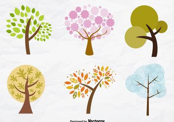 Seasonal Trees - vector gratuit #145771