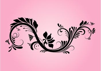 Decorative Floral Swirl - vector gratuit #145791