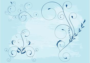 Swirling Flower Stems - Free vector #145811