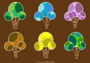 Abstract Seasonal Trees - vector gratuit #145841